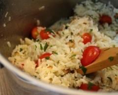 insalata di riso alle mandorle,insalata di riso,riso,mandorle,insalata,insalate,cetriolo,limone,