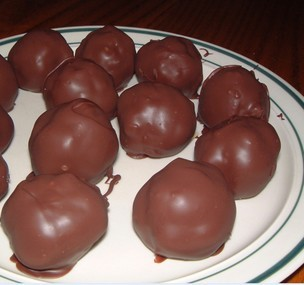 Dolci Palline Di Natale.Pallottole Di Natale Glassate Al Cioccolato Agenda Di Cucina
