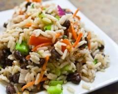 insalata di riso ai fagioli,insalata di riso,riso,insalata,insalate,fagioli,