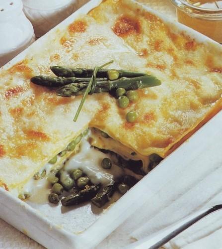 Lasagne ai piselli e asparagi