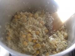 riso e ceci saltato in padella,riso,risotto,riso e ceci,ceci,primi piatti,cucina vegetariana,
