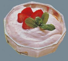 crema di ricotta alle fragole,crema,crema di ricotta,ricotta,fragole,ricette dolci,menta,