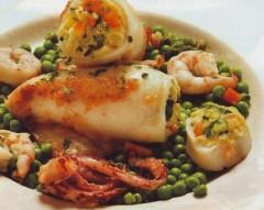 calamari farciti con zucchine e gamberi,calamarifarciti,calamari,pesce,calamari con gamberi e zucchine,gamberi,zucchine,