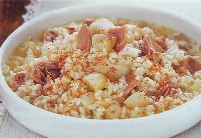 primi piatti,risotto con tonno,risotto,tonno,ricette di cucina,risotti,peperone,