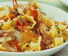 reginette ai carciofi,pasta e carciofi,carciofi,prosciutto,primi piatti,ricette di cucina,