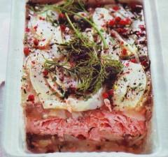 terrina al salmone,salmone,ricetta con il salmone,pesce,secondo di pesce,carota,salmone in teglia,