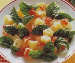insalata di spinaci,insalata,insalate,spinaci,patate,pancetta affumicata,
