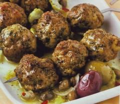 crocchette di manzo alle olive e senape,crocchette,polpette,polpette di carne,olive,senape,