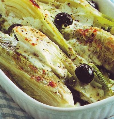 gratin di finocchi e lattuga,gratin,gratin di finocchi,finocchi,finocchi gratinati,panna,ricetta con i finocchi,ricette di cucina,
